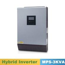 3000VA 2400W czysta fala sinusoidalna falownika hybrydowy falownik 24VDC wejście 220VAC wyjście z ładowarka słoneczna MPPT kontroler 25A