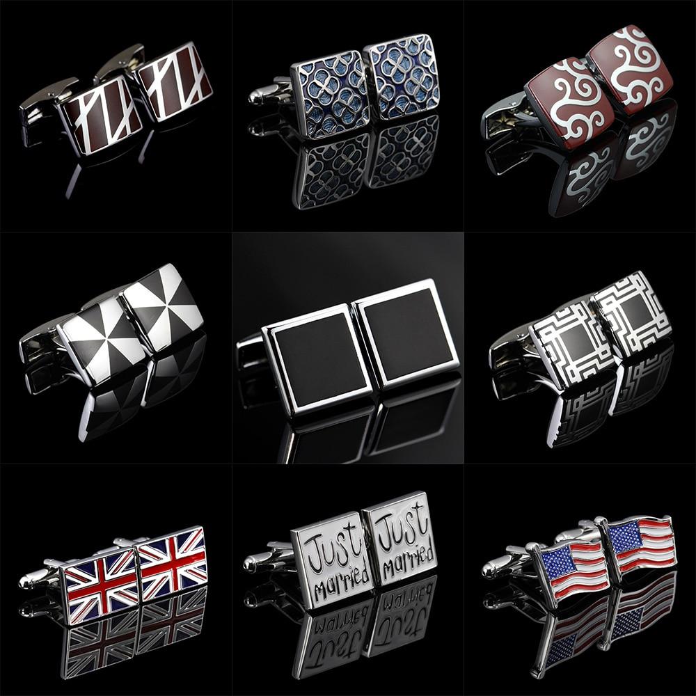 Memolissa Classic Cufflinks Santa Claus/Alarm Clock/Flag/Vintage Pattern Design Cufflinks Bouton De Manchette Gifts For Men