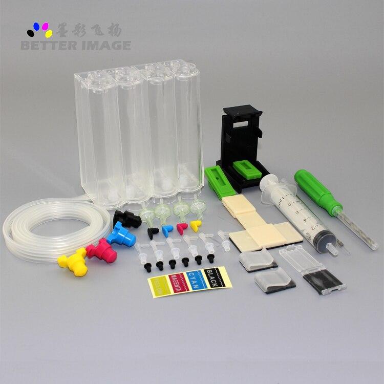 Kit 4 cores CISS Universal com acessórios para para canon pg-510 PIXMA MP230 impressora cl-511 240 250 260 270 280 282 480 etc.