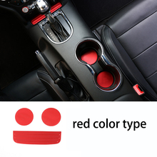 lsrtw2017 aluminum alloy car cup cushion storage box for ford mustang 2015 2016 2017 2018 6th generation цены
