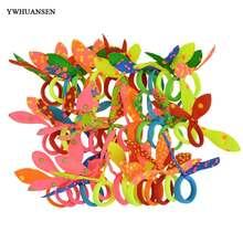 YWHUANSEN – Mini-bande élastique pour cheveux, 50 pièces/lot, petites oreilles de lapin, Scrunchy pour bébé, attaches, accessoires pour petites filles, boucle pour cheveux