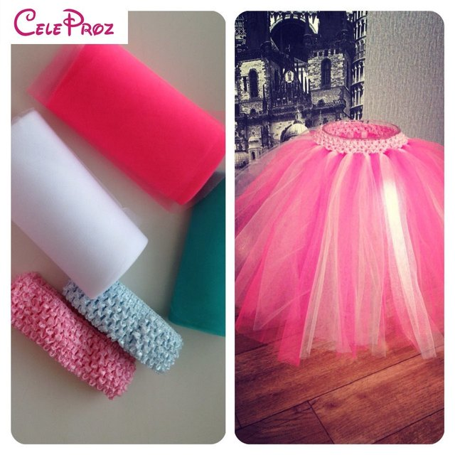 7cm Stretched Crochet Tube Tutu Tops Wrap Chest For DIY Baby Girls Skirt Hair Bow