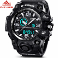 D-ZINER Fashion Watch Men Watches Top Brand Luxury Display Quartz Digital Men Watch LED Military Sport Watches Relogio Masculino