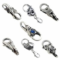 Authentic 925 Sterling Silver Charms Troll Tree Castle Fish Flower Locks Lobster Clasp Fit European Brand