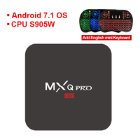 S905W MXQ PRO Android 7 1 TV Box Amlogic Quad Core 64Bit Ram 1GB ROM 8GB