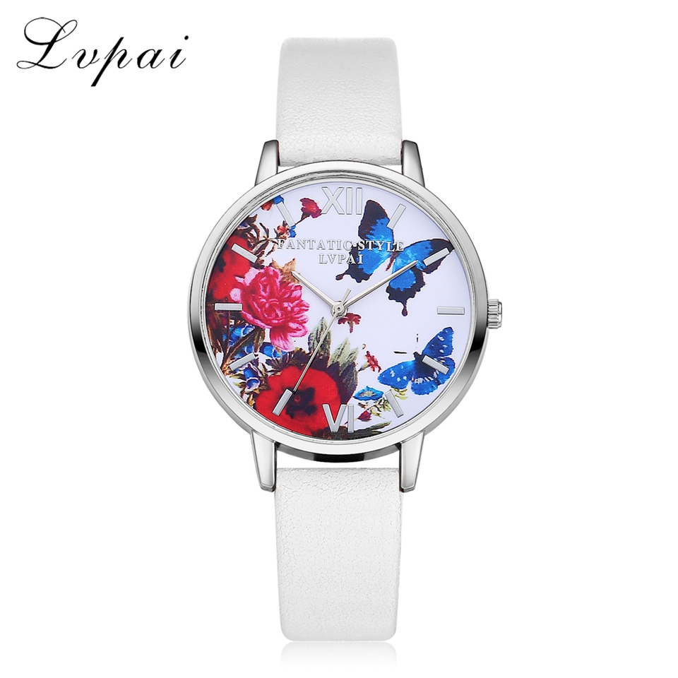 New Silver Butterfly Women Watches 2018 Brand Luxury Rose Gold Round Fashion Popular Wristwatch Female Quartz Watch Women Watch