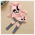 Child Bat Children Clothing Set Cartoon Printing Girls Clothing Suits Leisure Sportswear Cute Girl Clothes For Sports Suit