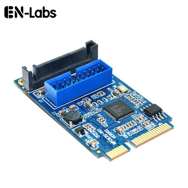 Carte Usb 3.13 7 11 De Reduction Carte Mere En Labs Mini Pci Express A Double Usb 3 0 20 Broches Adaptateur De Carte Mini Pcie Pci E A 2 Ports Usb 3 0 W Sata