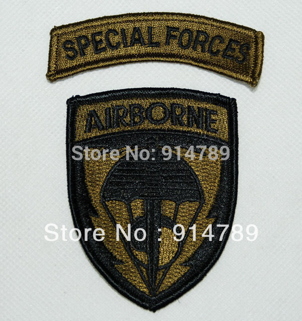 US UNITED STATES SPECIAL FORCES AIRBORNE EMBROIDERED PATCH OD-32269