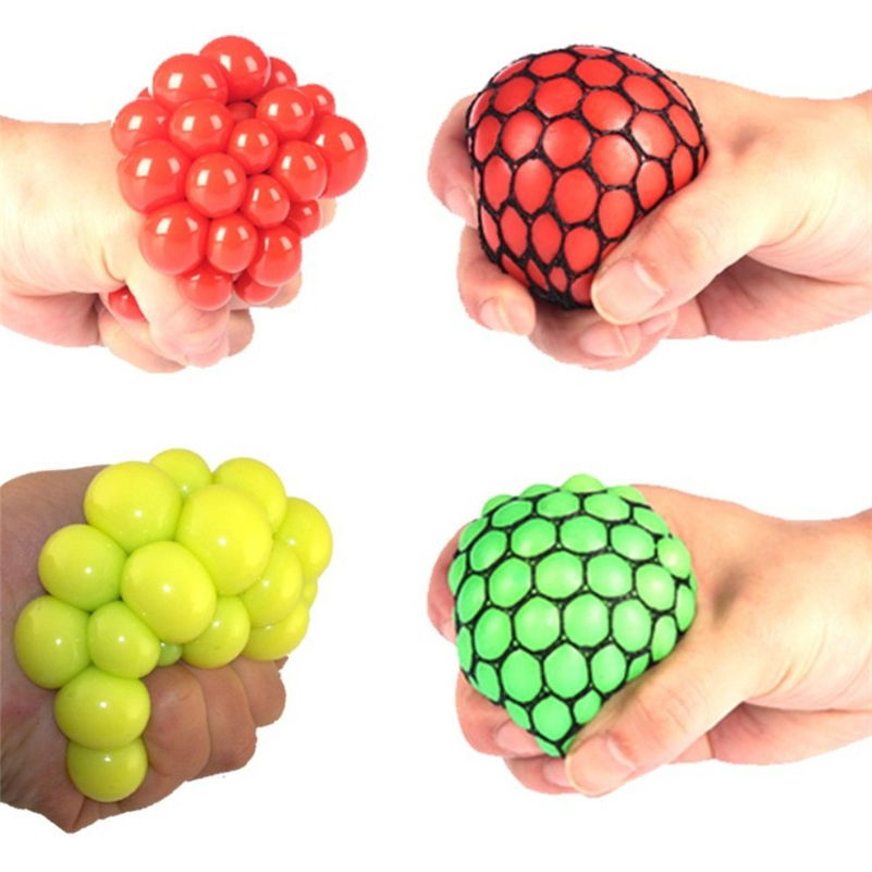 Squishy Squeeze Ball : Hot Sale Squishy Mesh Ball Squeeze ball Novelty in Sensory fruity Kid Play EDC Stress Relief ...