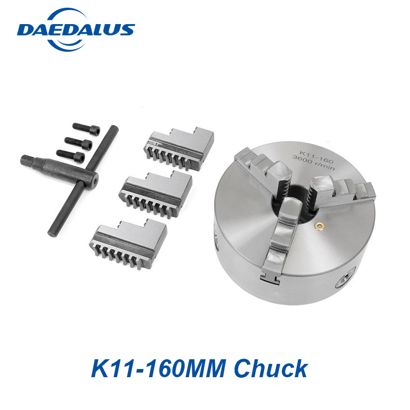 Self-centering Manual 3 jaw drilling chuck K11-160mm min chuck Jaw chuck machine accessories for DIY metal lathe eu delivery 3 jaw manual chuck k11 80mm three jaw self centering chuck 3 jaw chuck machine tool lathe chuck