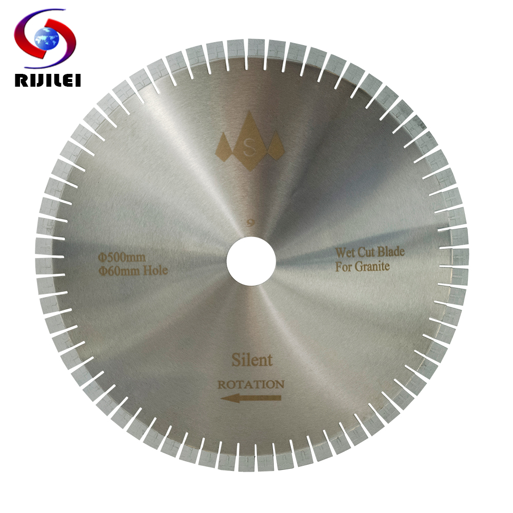 RIJILEI 500MM Silent Granite Diamond Saw Blades Cutter Blade For Granite Stone Cutting Circular Cutting Tools