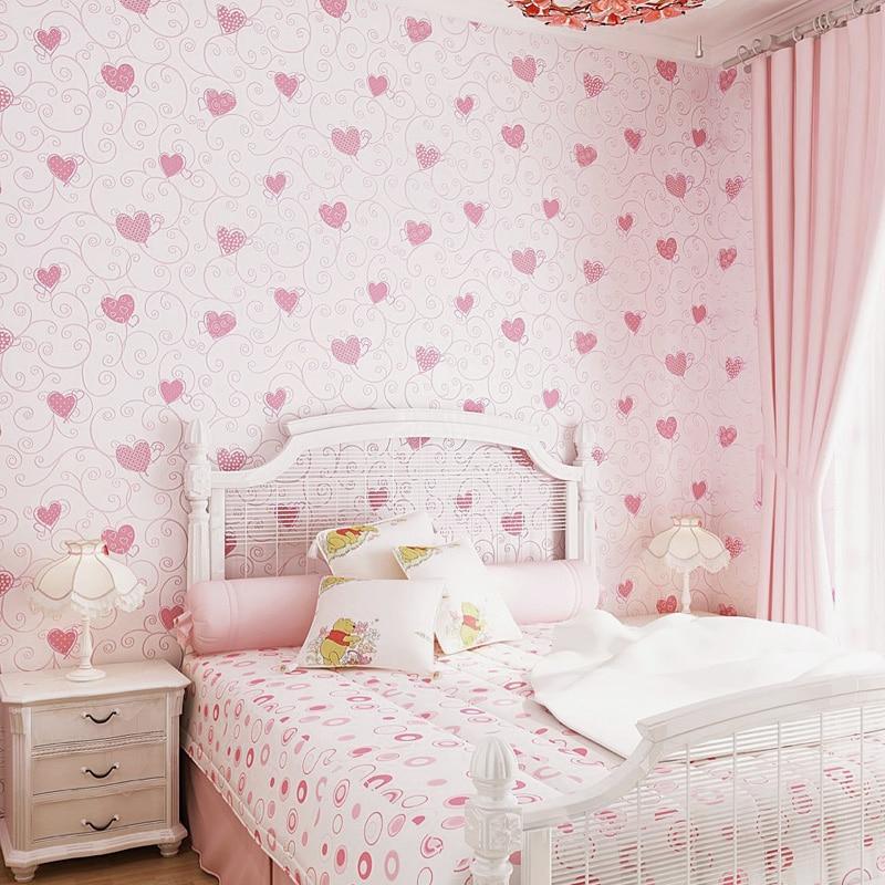 Pink Wallpaper Kids Room