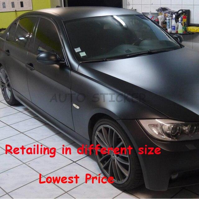 Classic Black Retailing 10 20 30 40 50cm 152cm Matte Car Wrap Vinyl