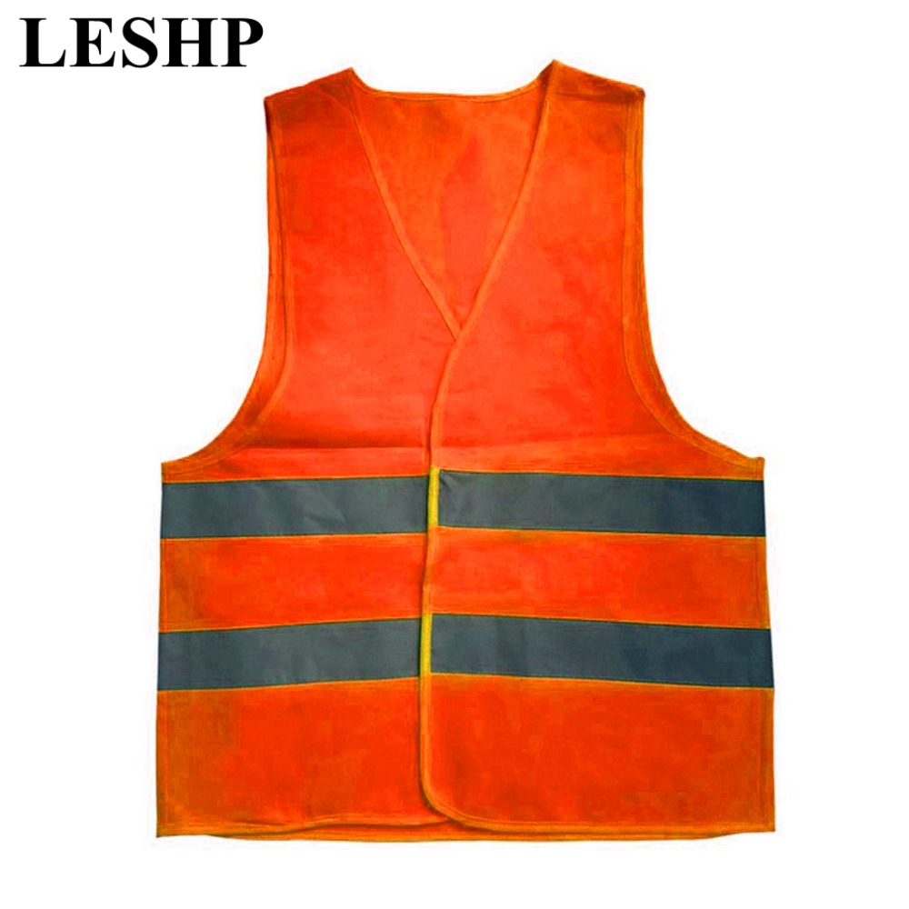 Plus Size XXL-XXXL Reflective Vest Working Clothes Provides High Visibility Day Night For Running Cycling Warning Safety vest safety reflective vest highlight reflector stripe for day night working