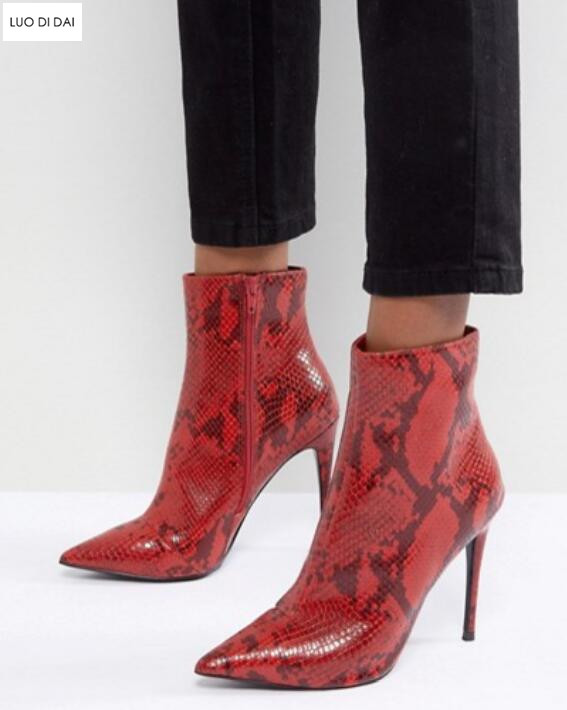 2019 fashion point toe ankle boots