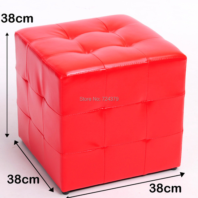 Pu Leather Modern Stools Round Ottoman Pouf Bedroom Home Furniture  Footstools Ottomans USA KRISTIN