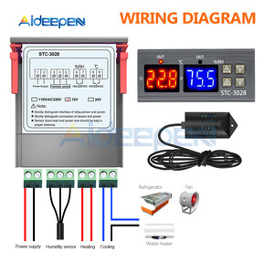 Image 3 - STC 3028 inteligentny wyświetlacz cyfrowy kontroler temperatury i wilgotności wyświetlacz termometr higrometr do lodówki przemysł domowy