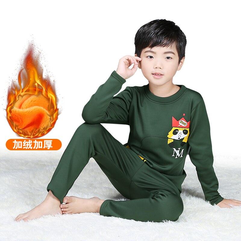 kids thermal underwear child long johns winter wear thicken cotton underwear set for boys high quality high stretch u contour pouch long johns