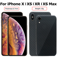 2018 New Arrival Carbon Fiber Case Cover For iPhone X XS Aramid Fiber Cover For iPhone XR XS MAX Ultra Thin Phone Cover