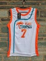 Cheap LIANZEXIN America Flint Tropics Movie 7 COFFEE Black Jersey 2016 Men Basketball Jerseys For Sale