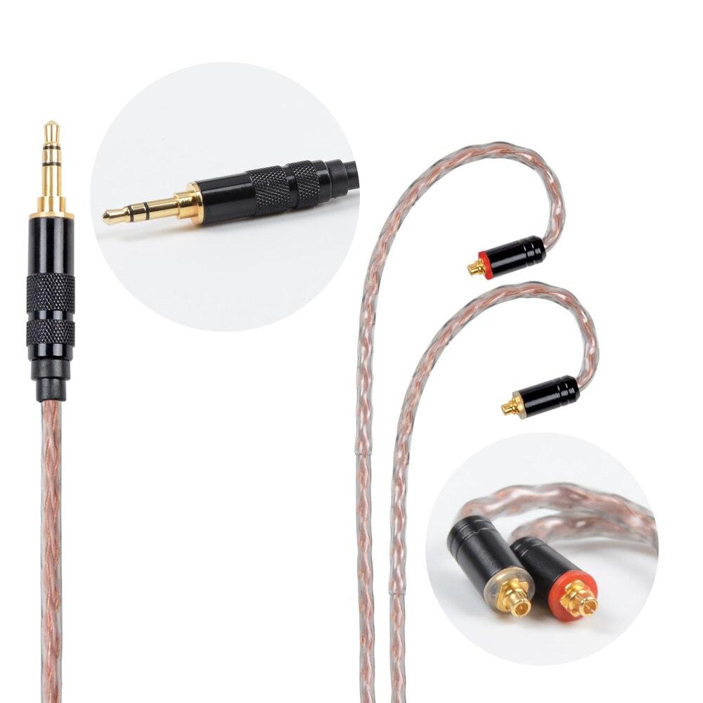 NICEHCK MMCX/2Pin Connecteur 4.4/3.5/2.5mm Équilibrée 8-core Cuivre Pur Câble Pour SE846 ZS10/ZS6 LZ A5 NICEHCK HK6 Avec Crochet D'oreille