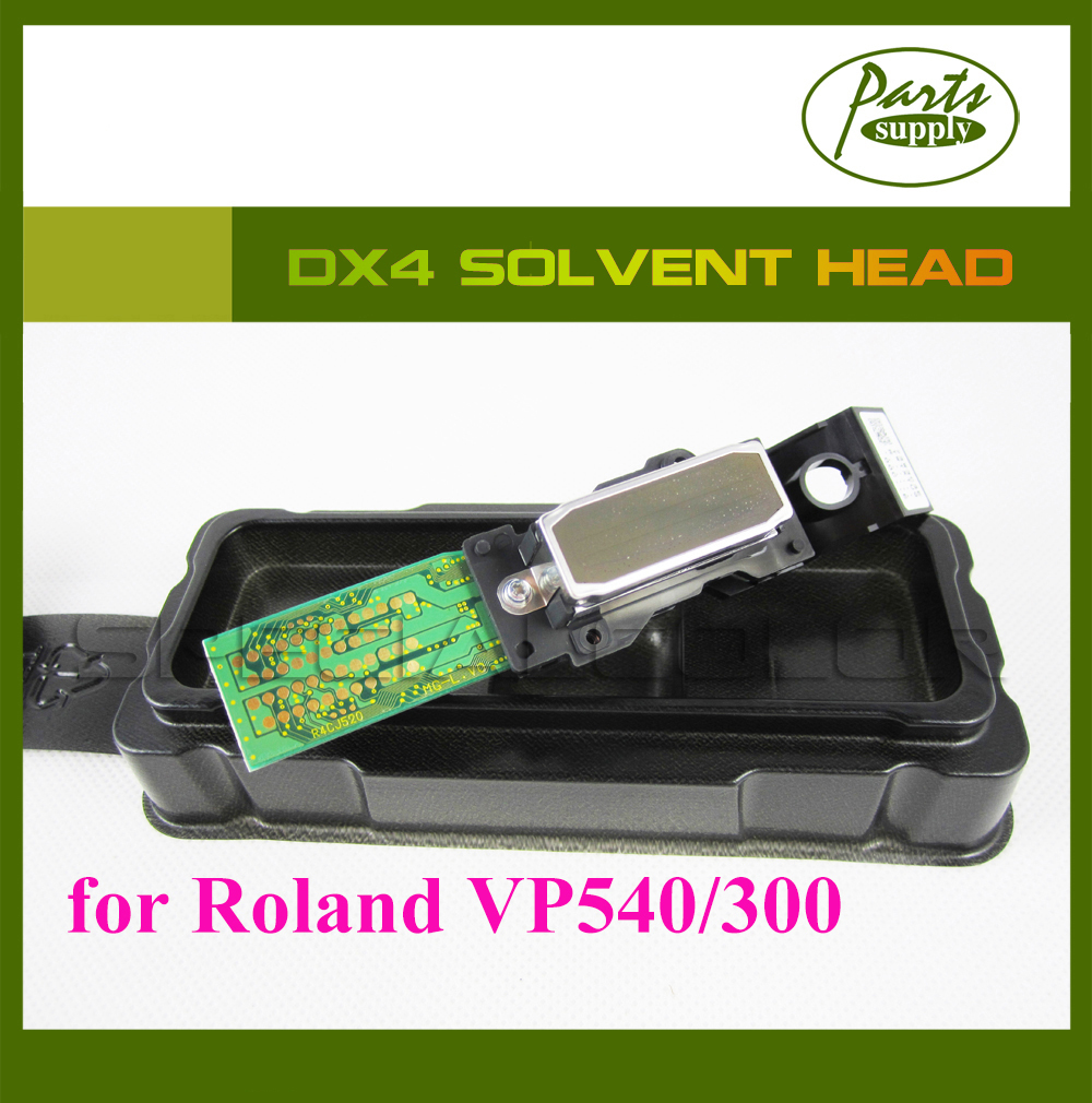 [Get 2pcs DX4 Small Damper free!] original roland VP540/VP300 DX4 print head Solvent printhead with serial number new original dx4 solvent printhead for roland xj740 640 540 printer get 2pcs dx4 small damper as gift