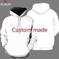 Xijun Wholesale EU Size Men Hoodies custom made image and Logo High Quality Streetwear Pullover Sweatshirts