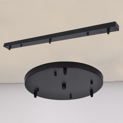 Round/Rectangle ceiling plate black iron pendant lights accesories 3 heads ceiling pendant plate D50CM high quality-in Pendant Lights from Lights u0026 Lighting ... & Round/Rectangle ceiling plate black iron pendant lights accesories ... azcodes.com