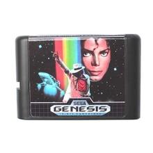 Michael Jackson Moonwalker de 16 Bits Tarjeta De Juego De Sega Mega Drive y Sega Genesis
