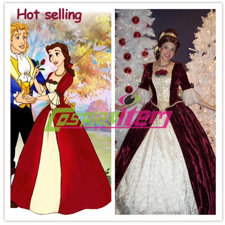 Custom made beauty and the beast cosplay dress princess