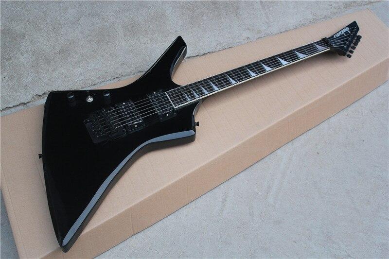 free shipping factory custom best price left handed jackson ke2 kelly electric guitar black. Black Bedroom Furniture Sets. Home Design Ideas