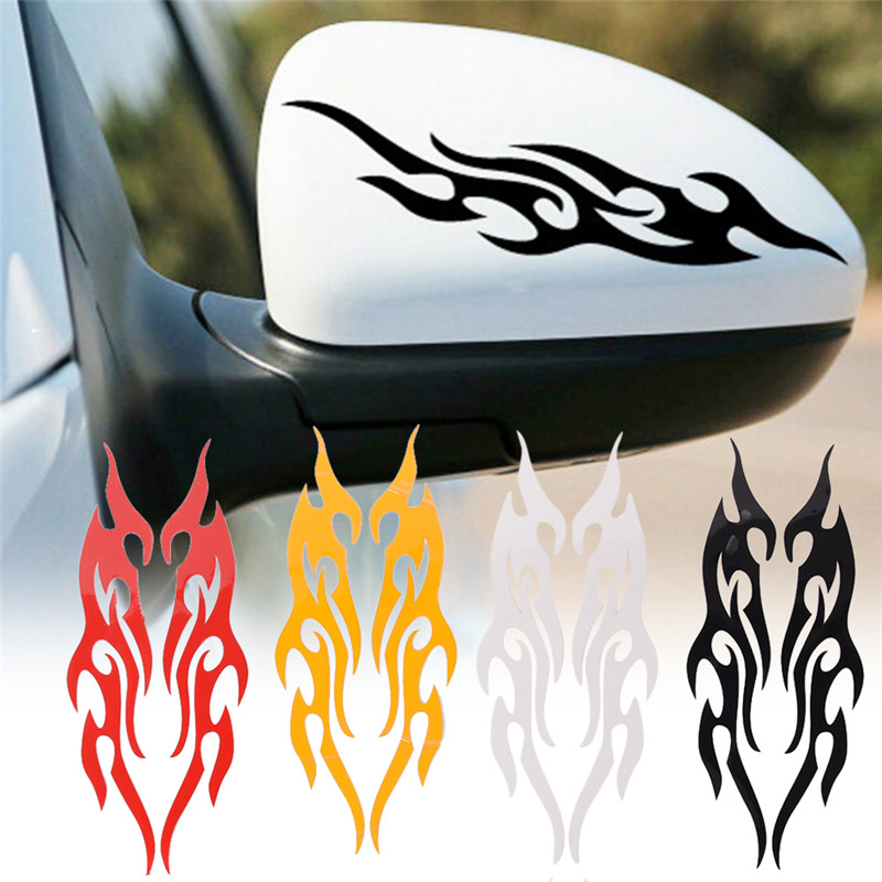New Wolf Head Skull Head Fire Decals Vinyl Funny Sticker Fit For Motorcycle Car Styling Truck Helmet And All The Smooth Surface 100% Guarantee Car Stickers Exterior Accessories