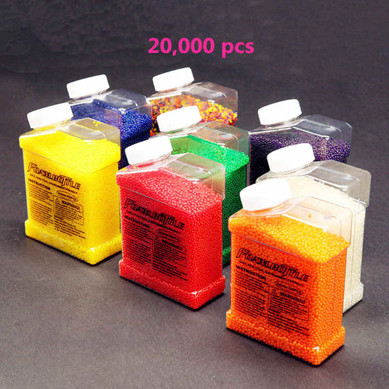 20000pcs Water gun bullet Seven colors orbeez soft crystal water paintball gun bullet grow water beads balls water gun toy