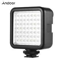 Andoer W49 ミニカメラ LED ビデオライトパネルライト調光対応ビデオカメラビデオ照明/靴キヤノンニコンソニー