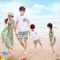 Семья одежда и дочь соответствия мать-дочь одежды семья взгляд соответствующие семья наряды camisetas свободного покроя
