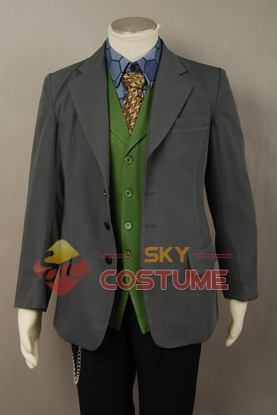 Batman The Dark Knight Joker Cosplay խրամատի բաճկոն + - Կարնավալային հագուստները - Լուսանկար 6