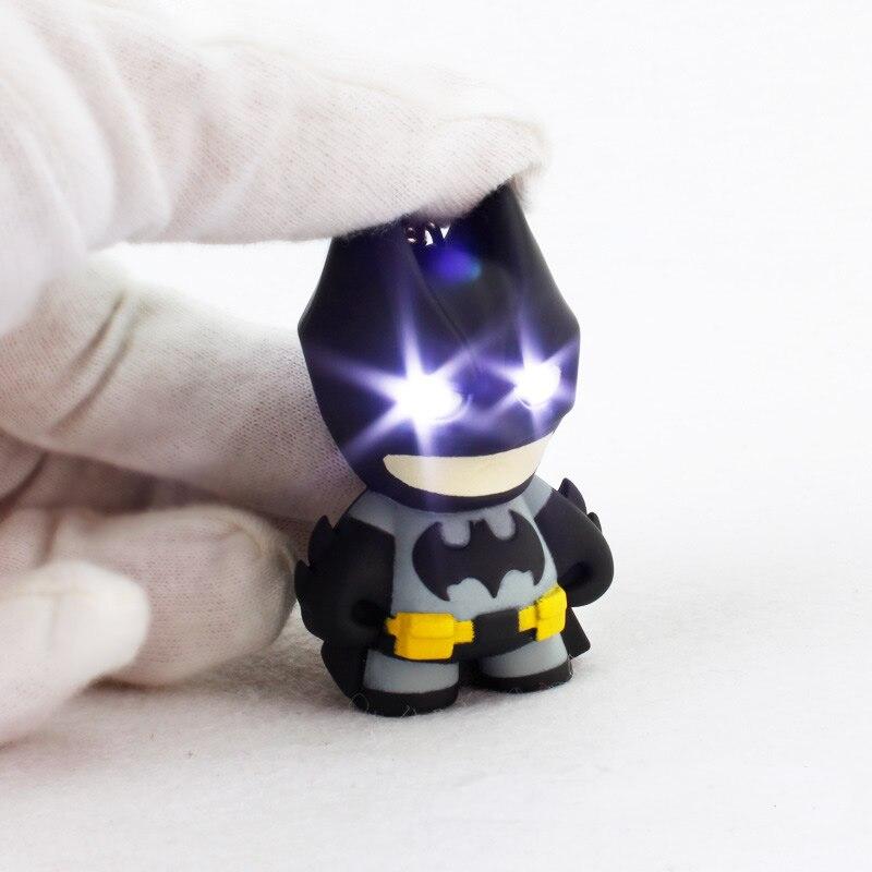 3D <font><b>Batman</b></font> Toy Cartoon Modeling <font><b>Light</b></font> LED <font><b>Sound</b></font> Keychains Action <font><b>Figure</b></font> Kids Toys Christmas Gift 27 * 39 * 55mm ABS Material