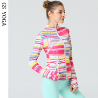Women's Yoga Top Long Sleeve Running Quickly Dry Sports Shirts Hoodies Sweatshirt Fitness Zipper Jacket Hood Coat