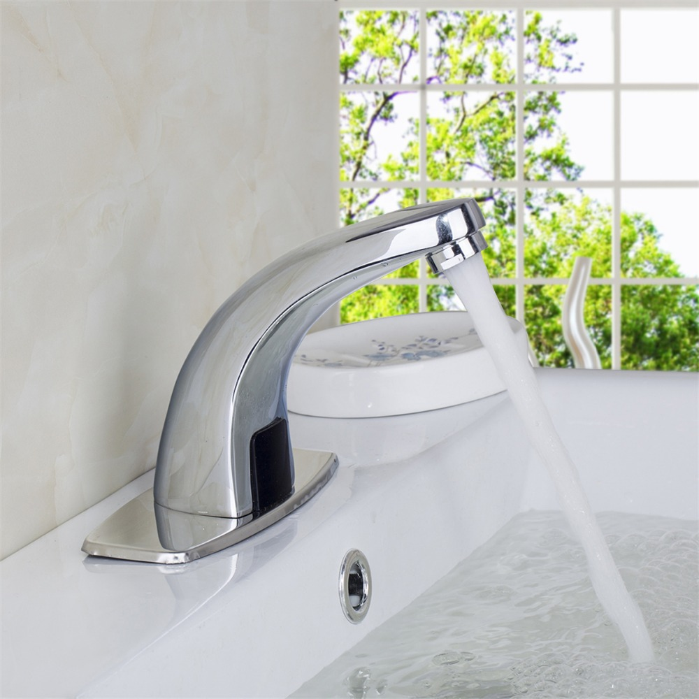 Design Brass Material Hot And Cold Automatic Hands Touch Free Sensor Faucet  Bathroom Sink Tap Bathroom faucet 196b7311d