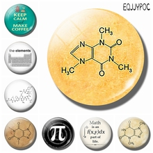 Caffeine Chemistry Molecule 30 MM Fridge Magnet Coffee Glass Dome Magnetic Refrigerator Stickers Note Holder Home Decor