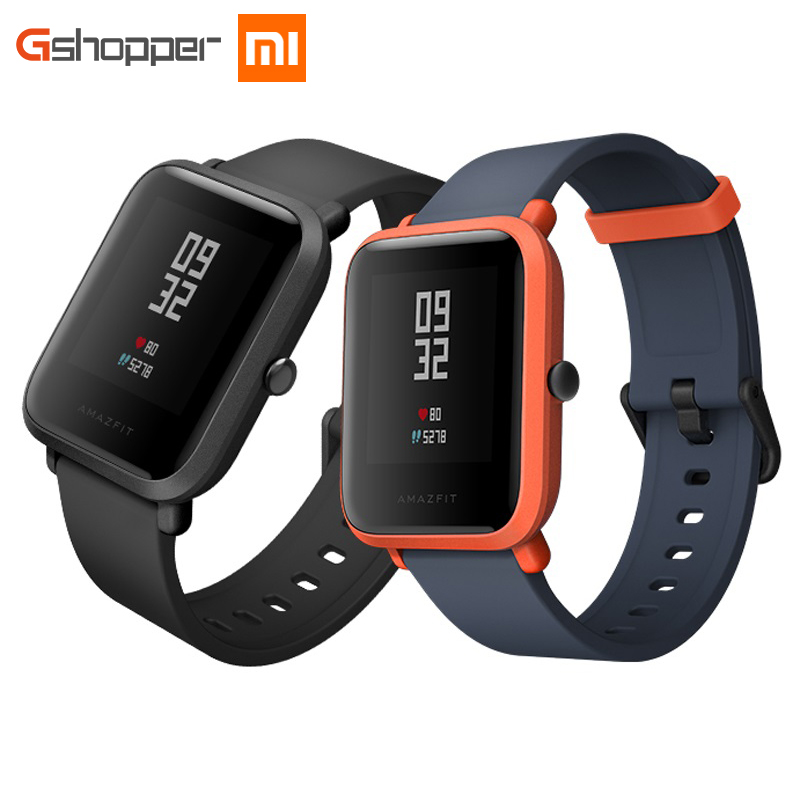 Original AMAZFIT Bip Jugend Ausgabe Smart Uhr GPS GLONASS Bluetooth 4,0 Pulsmesser IP68 Wasserdicht Android 4.4 IOS 8