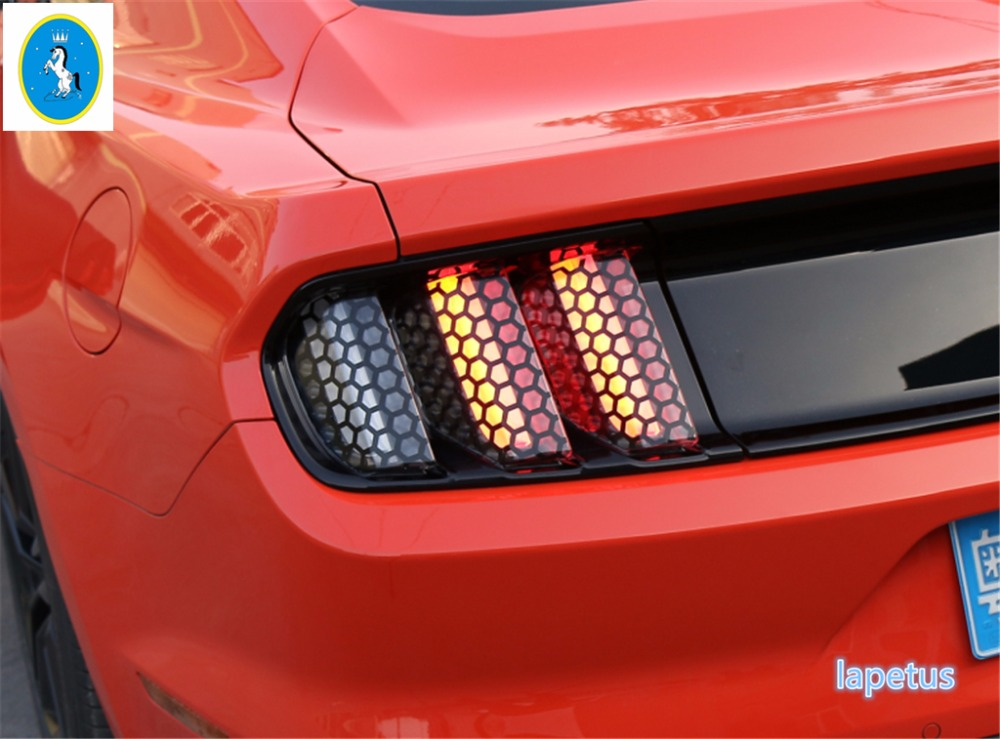 Tail Light Film Trim Lamp Cover Paste Honeycomb Molding A Set For Ford Mustang 2017 2016