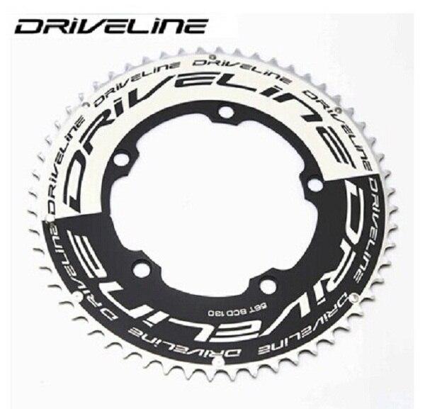 DRIVELINE CNC 53/55/56/58T road bike TT chainring 9/10/11S 130BCDDRIVELINE CNC 53/55/56/58T road bike TT chainring 9/10/11S 130BCD