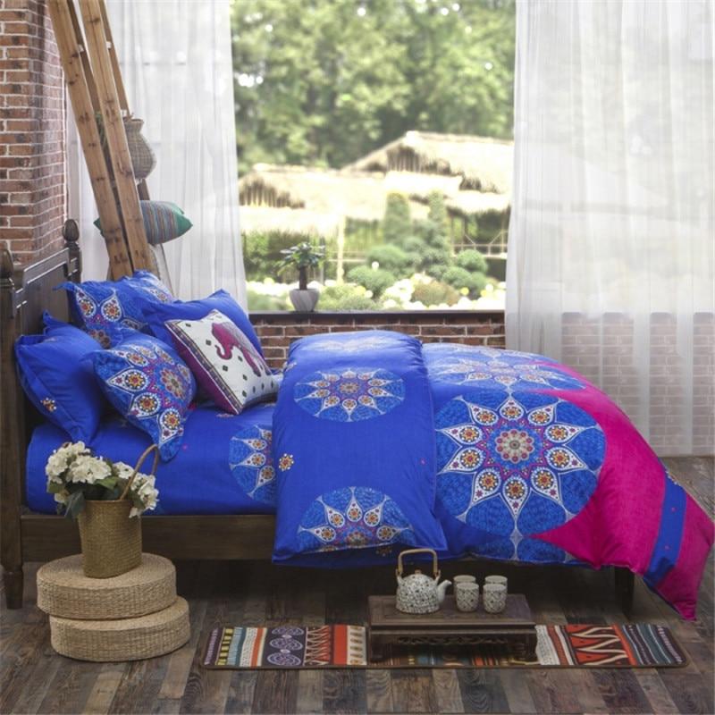 UNIKEA Lightweight Bohemia Bedding Set Exotic Paisley Reversible Duvet  Cover Bed Flat Sheet Pillow Sham Blue. Popular Reversible Twin Comforter Buy Cheap Reversible Twin