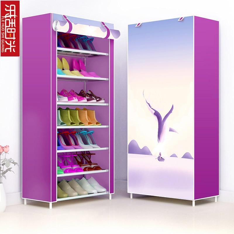 Multi Layers Hallway Shoe Organizer Oxford Cloth Detachable Shoes Storage Closet Creative Modern Living Room Shoe Rack