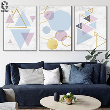 Modern Wall Art Canvas Posters Prints Geometric Marble Painting Nordic Style Picture for Living Room Home Decorative