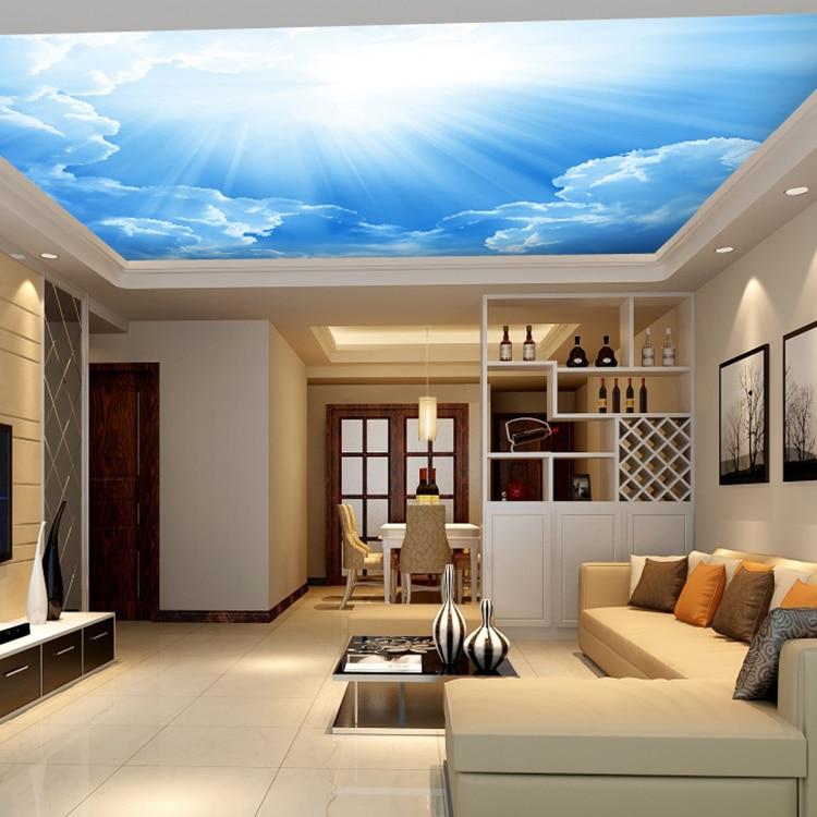 online kaufen großhandel himmel wandmalereien aus china himmel ... - Wohnzimmer Tapete Blau