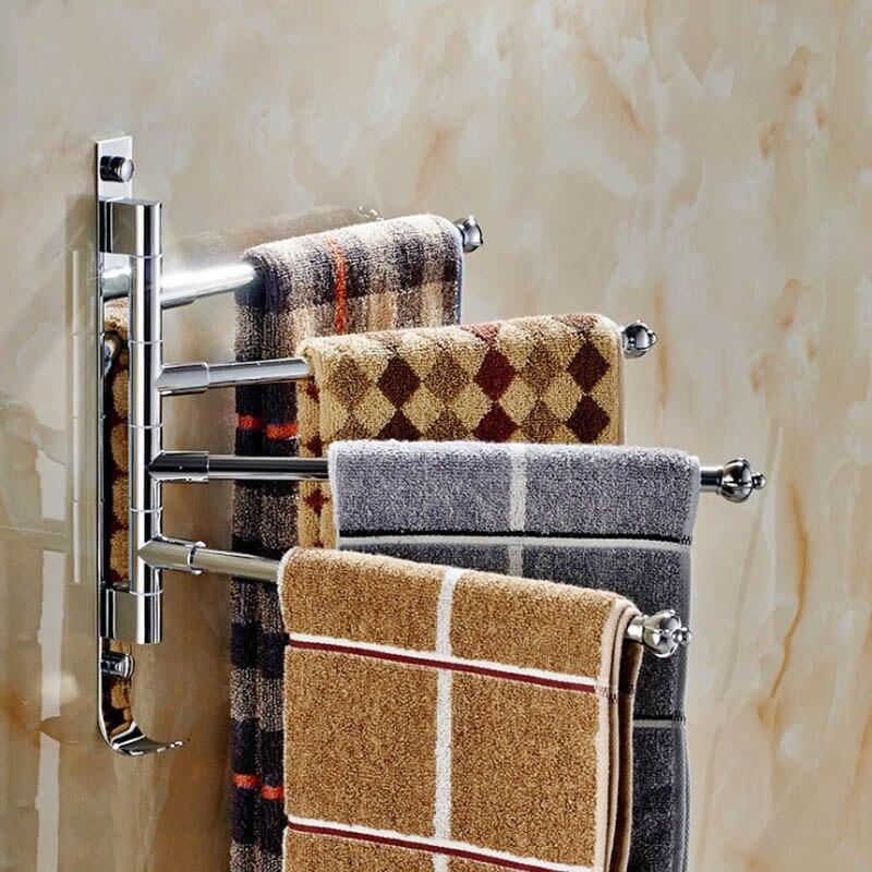 Полка для ванной комнаты из алюминия/нержавеющей стали, вращающиеся полки для полотенце|Подставки для хранения и стеллажи|   | АлиЭкспресс