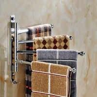 Aluminum / Stainless Steel Bathroom Towel Rack, Rotate Towel Shelves